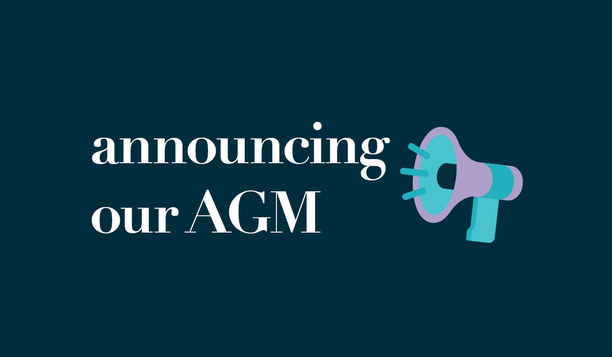 Announcing our 2018 AGM