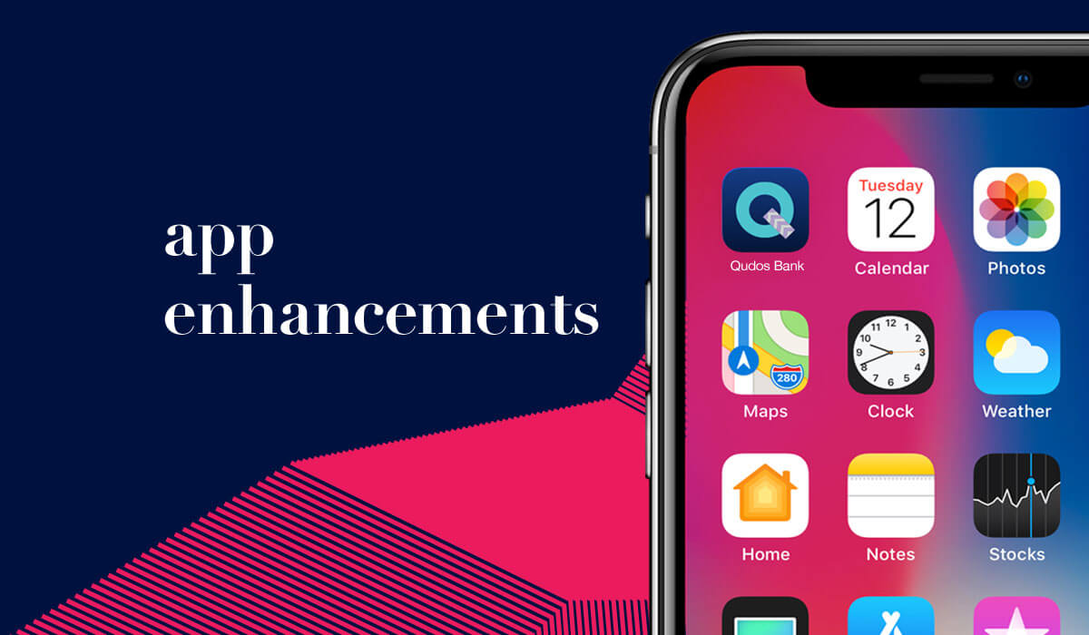 Qudos Bank App Enhancements