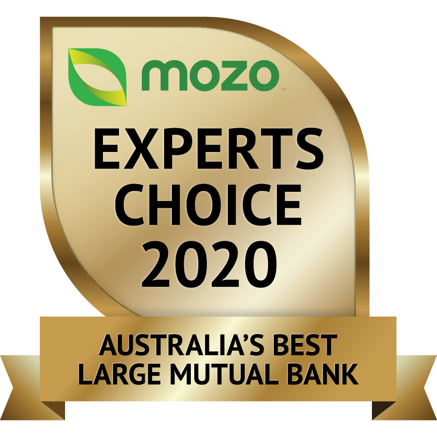 Mozo Experts Choice 2020 - Australia's Best Large Mutual Bank
