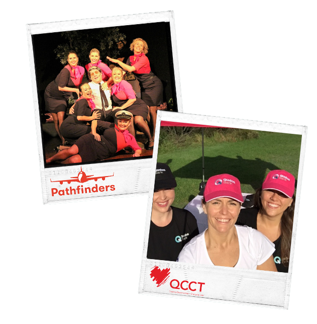 Qantas Pathfinders and Qantas Cabin Crew Team