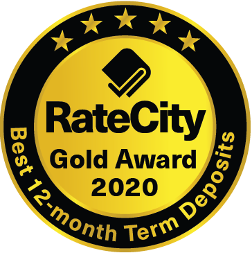 Rate City Best 12 month Term Deposit Award