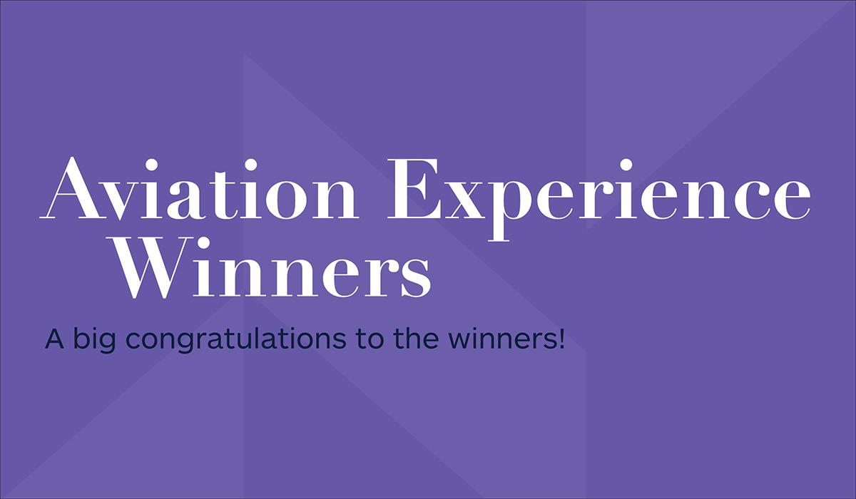 Aviation Experience winners